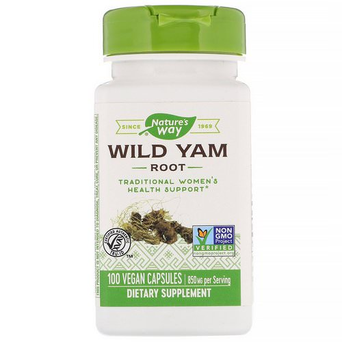 Nature's Way, Wild Yam Root, 850 mg, 100 Vegan Capsules Review
