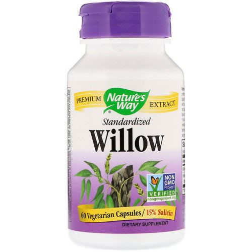 Nature's Way, Willow, Standardized, 60 Vegetarian Capsules Review
