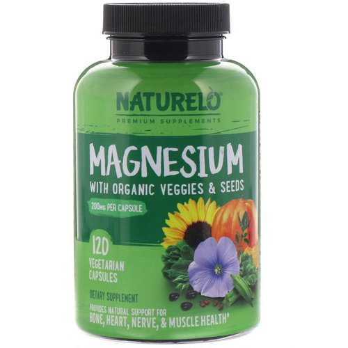 NATURELO, Magnesium with Organic Veggies & Seeds, 200 mg, 120 Vegetarian Capsules Review