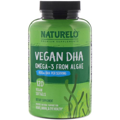 NATURELO, Vegan DHA, Omega-3 from Algae, 800 mg, 120 Vegan Softgels Review