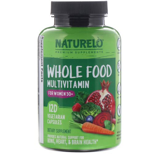 NATURELO, Whole Food Multivitamin for Women 50+, 120 Vegetarian Capsules Review