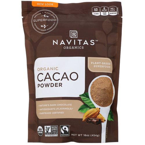 Navitas Organics, Organic Cacao Powder, 16 oz (454 g) Review
