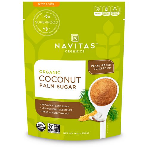 Navitas Organics, Organic Coconut Palm Sugar, 16 oz (454 g) Review