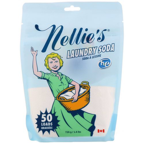 Nellie's, Laundry Soda, 100 Loads, 1.6 lbs (726 g) Review