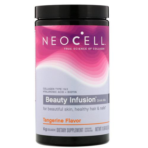 Neocell, Beauty Infusion Drink Mix, Tangerine, 11.64 oz (330 g) Review