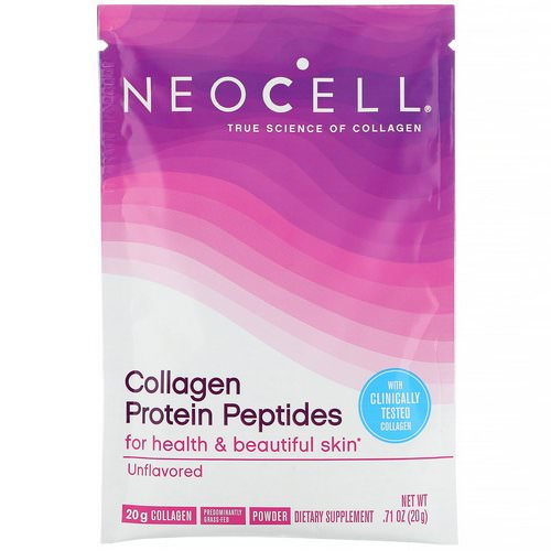 Neocell, Collagen Protein Peptides, Unflavored, .71 oz (20 g) Review