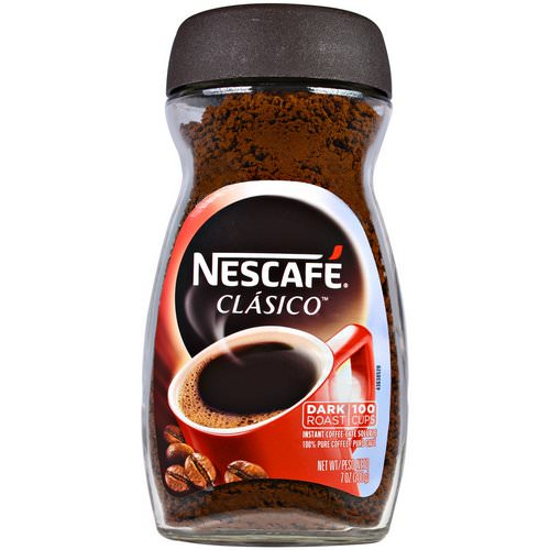 Nescafe, Clasico, Pure Instant Coffee, Dark Roast, 7 oz (200 g) Review