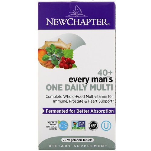 New Chapter, 40+ Every Man's One Daily Multi, 72 Vegetarian Tablets Review