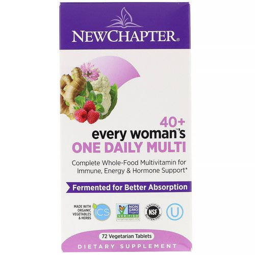 New Chapter, 40+ Every Woman's One Daily Multi, 72 Vegetarian Tablets Review