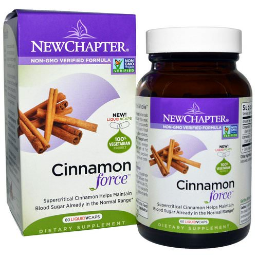 New Chapter, Cinnamon Force, 60 Vegetarian Capsules Review