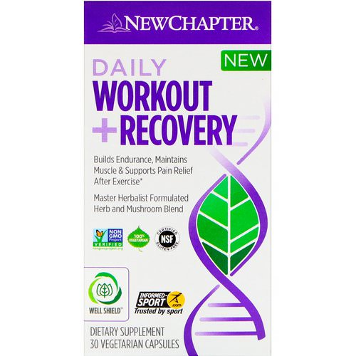 New Chapter, Daily Workout + Recovery, 30 Vegetarian Capsules Review