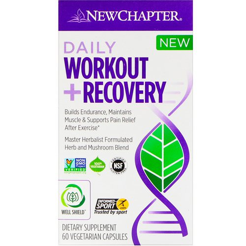 New Chapter, Daily Workout + Recovery, 60 Vegetarian Capsules Review