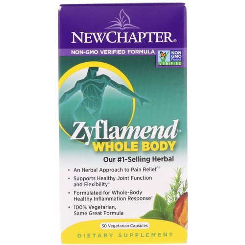 New Chapter, Zyflamend, Whole Body, 30 Vegetarian Capsules Review