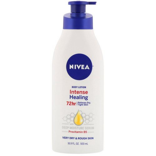 Nivea, Intense Healing Body Lotion, Very Dry & Rough Skin, 16.9 fl oz (500 ml) Review