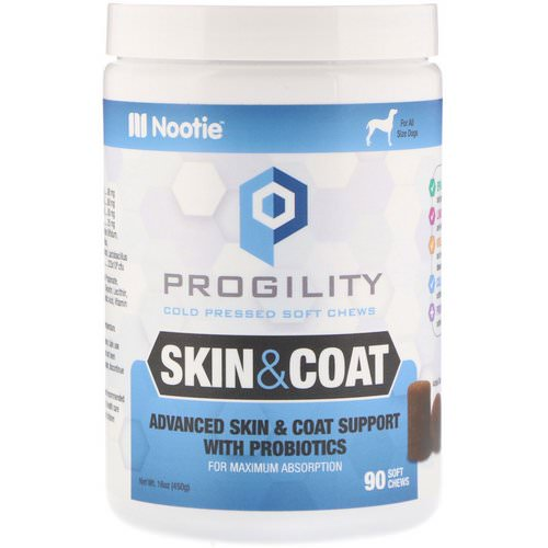 Nootie, Progility, Skin & Coat, For Dogs, 90 Soft Chews Review