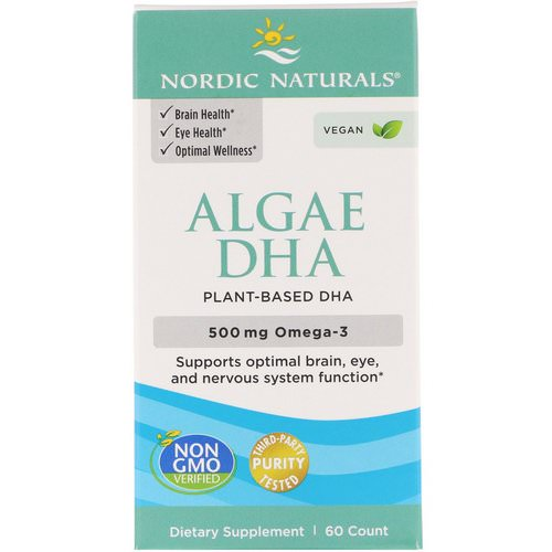 Nordic Naturals, Algae DHA, 500 mg, 60 Soft Gels Review