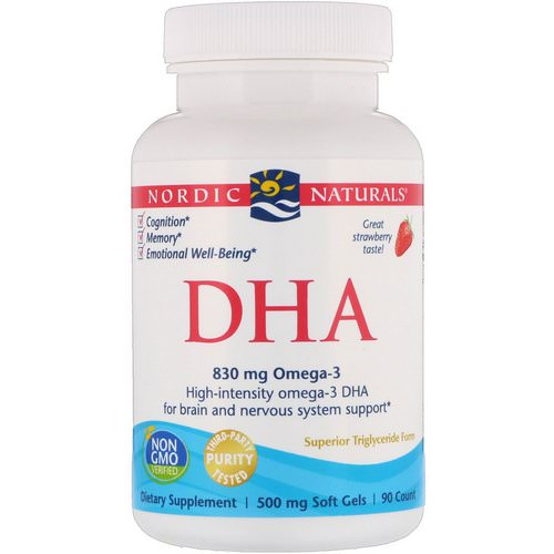 Nordic Naturals, DHA, Strawberry, 500 mg, 90 Soft Gels Review
