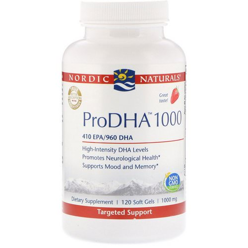 Nordic Naturals, ProDHA 1000, Strawberry Flavor, 1000 mg, 120 Soft Gels Review