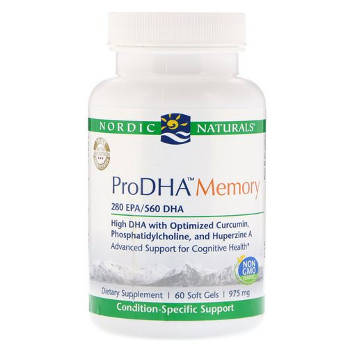 Nordic Naturals, ProDHA Memory, 975 mg, 60 Soft Gels Review