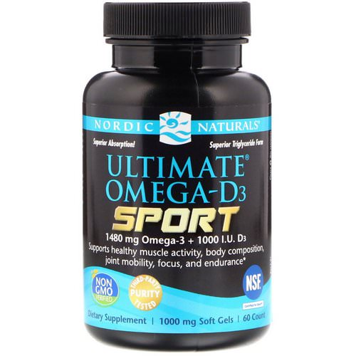 Nordic Naturals, Ultimate Omega-D3 Sport, 1,000 mg, 60 Soft Gels Review