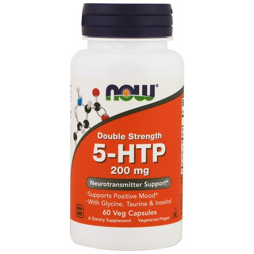 Now Foods, 5-HTP, Double Strength, 200 mg, 60 Veg Capsules Review