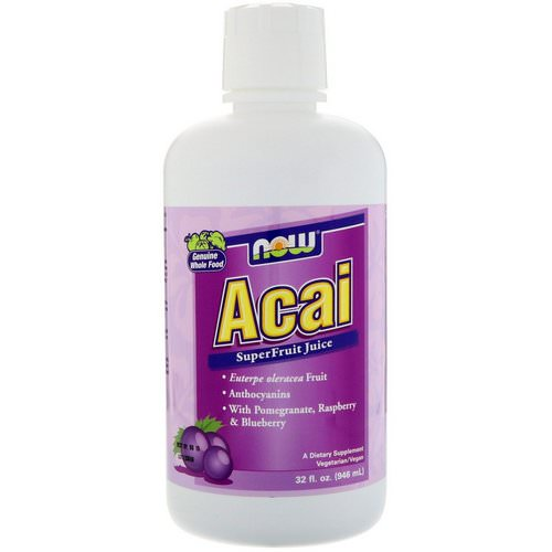 Now Foods, Acai SuperFruit Juice, 32 fl oz (946 ml) Review