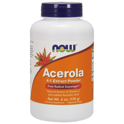 Now Foods, Acerola 4:1 Extract Powder, 6 oz (170 g) Review