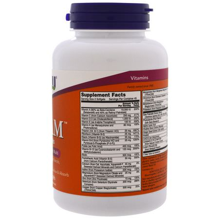 男人的多種維生素, 男人的健康: Now Foods, ADAM, Superior Men's Multi, 90 Softgels