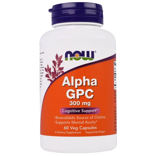 Now Foods, Alpha GPC, 300 mg, 60 Veg Capsules Review
