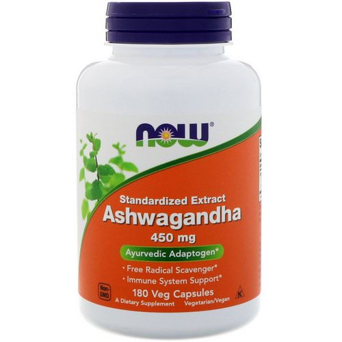 Now Foods, Ashwagandha, 450 mg, 180 Veg Capsules Review