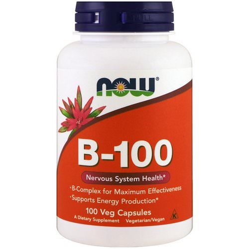 Now Foods, B-100, 100 Veg Capsules Review