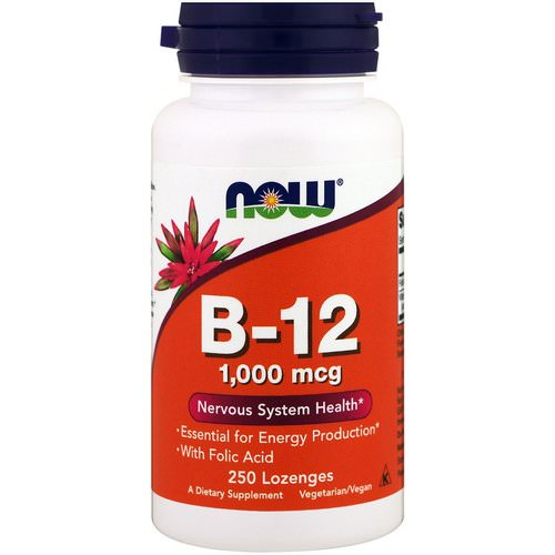 Now Foods, B-12, 1,000 mcg, 250 Lozenges Review