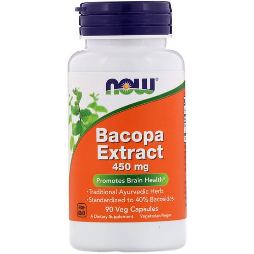 Now Foods, Bacopa Extract, 450 mg, 90 Veg Capsules Review