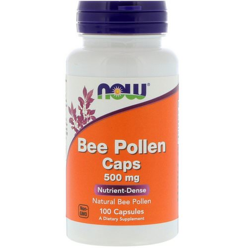 Now Foods, Bee Pollen Caps, 500 mg, 100 Capsules Review