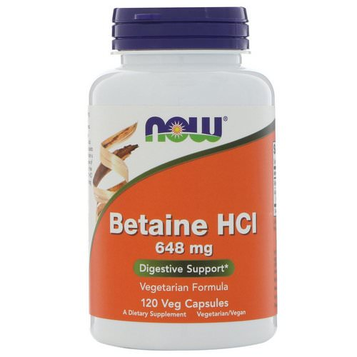 Now Foods, Betaine HCL, 648 mg, 120 Veggie Caps Review