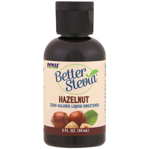 Now Foods, Better Stevia, Zero-Calorie Liquid Sweetener, Hazelnut, 2 fl oz (59 ml) Review