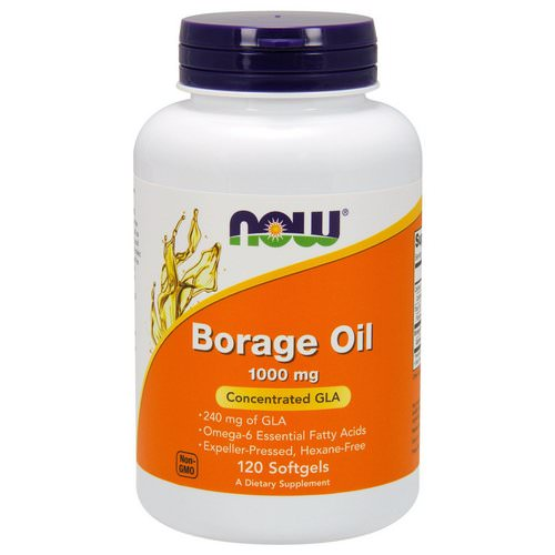 Now Foods, Borage Oil, Concentration GLA, 1,000 mg, 120 Softgels Review