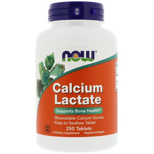 Now Foods, Calcium Lactate, 250 Tablets Review