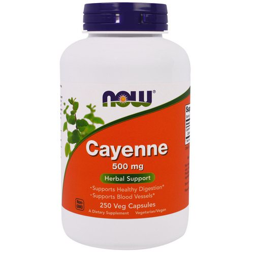 Now Foods, Cayenne, 500 mg, 250 Veggie Caps Review