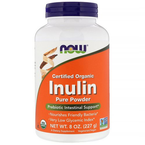 Now Foods, Certified Organic Inulin, Prebiotic Pure Powder, 8 oz (227 g) Review