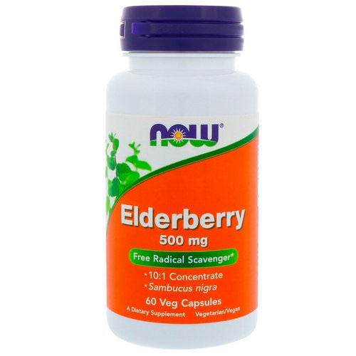 Now Foods, Elderberry, 500 mg, 60 Veg Capsules Review