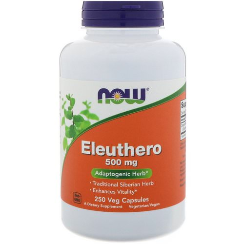 Now Foods, Eleuthero, 500 mg, 250 Veg Capsules Review