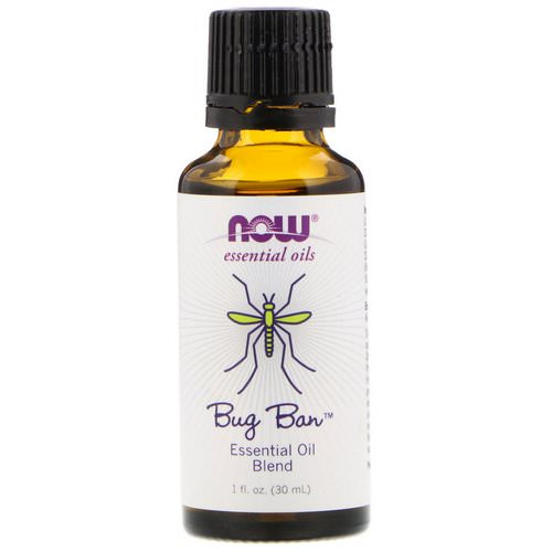 Now Foods, Essential Oils, Bug Ban, Essential Oil Blend, 1 fl oz (30 ml) Review