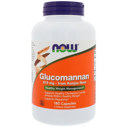 Now Foods, Glucomannan, 575 mg, 180 Capsules Review