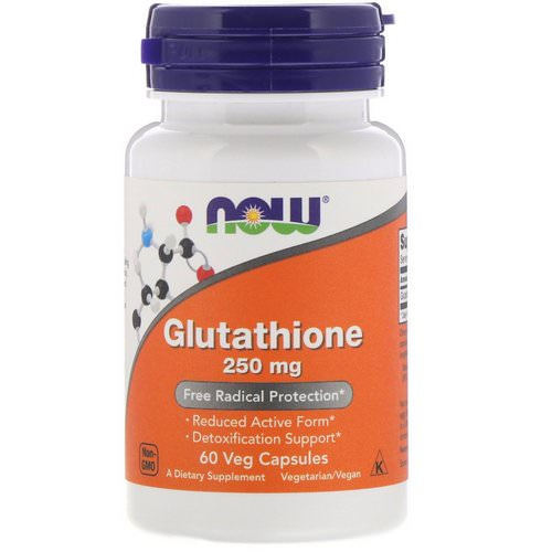 Now Foods, Glutathione, 250 mg, 60 Veg Capsules Review