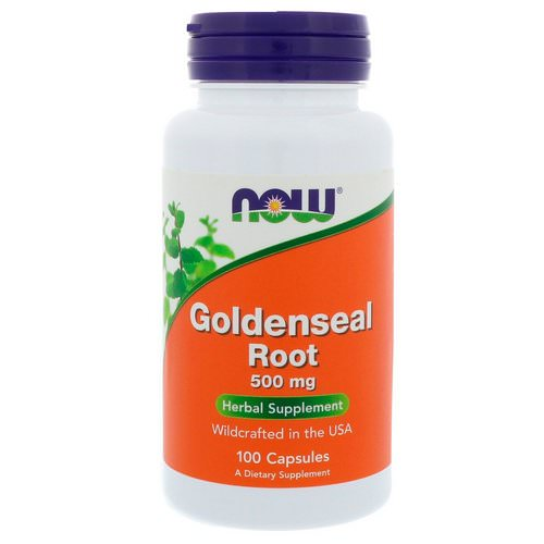 Now Foods, Goldenseal Root, 500 mg, 100 Capsules Review
