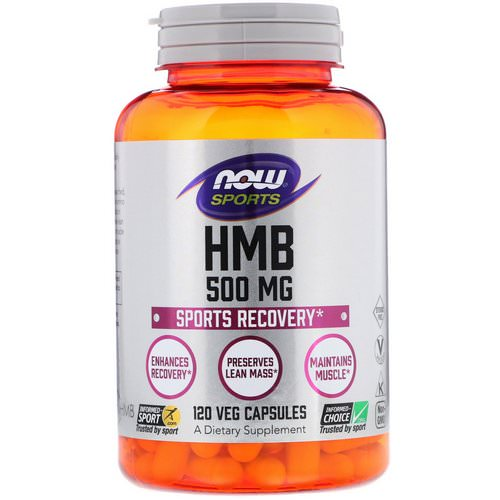Now Foods, HMB, Sports Recovery, 500 mg, 120 Veg Capsules Review