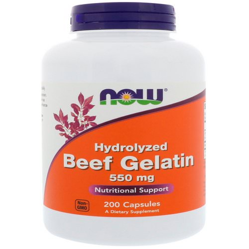 Now Foods, Hydrolyzed Beef Gelatin, 550 mg, 200 Capsules Review
