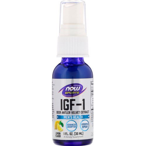 Now Foods, IGF-1, Deer Antler Velvet Extract, Lemon Flavor, 1 fl oz (30 ml) Review