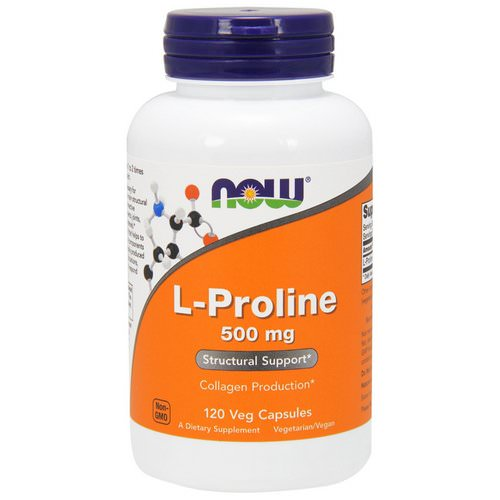 Now Foods, L-Proline, 500 mg, 120 Veg Capsules Review